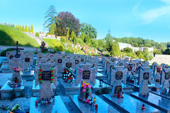 Grave of Ukrainian Victims of Political Repressions on Lychakiv Cemetery in Lviv. Grave of Ukrainian Victims of Political Repressions and dead soldiers of Royalty Free Stock Images