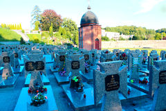 Grave of Ukrainian Victims of Political Repressions on Lychakiv Cemetery in Lviv. Grave of Ukrainian Victims of Political Repressions and dead soldiers of Royalty Free Stock Photos