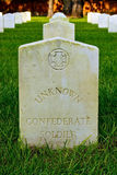 Grave of Unknown Confederate Soldier. In historic military cemetery Stock Photo