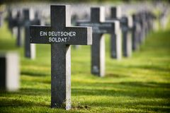 Grave of unknown german soldier. Grave of a unknown German soldier from world war two Royalty Free Stock Image