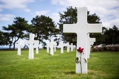 Grave of an unknown soldier. On the American War cemetery in Colleville sur Mer in Normandy, France Royalty Free Stock Image