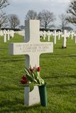 Grave of unknown soldier at the Netherlands American Cemetery and Memorial Margraten Royalty Free Stock Images