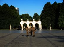 Grave of the unknown soldier (Warsaw). The grave of the unknown soldier in the morning sun (Warsaw Stock Images