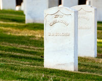 Grave of unknown U.S. soldier Royalty Free Stock Image