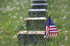 Grave. Of unknown Union soldier who fought during the Civil War Royalty Free Stock Images