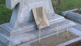 The grave of Vanga in Rupite, Bulgaria stock video