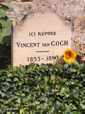 Grave of Vincent Van Gogh Stock Images