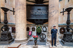 Grave of Vittorio Emanuele in the Pantheon Royalty Free Stock Images