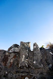 Grave wall 2. The top of an old irish stone wall royalty free stock photo