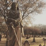 Grave yard in autumn Royalty Free Stock Photo