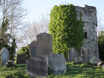 Grave yard head stones Royalty Free Stock Photo