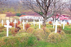 Grave yard in Iceland Stock Image