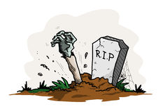 Grave Zombie Royalty Free Stock Photography