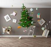 Gravedad cero de la Navidad ilustración del vector