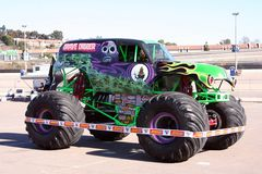 Gravedigger Monster Truck. A popular monster truck, Gravedigger, is on display before a performance at Qualcomm Stadium in San Diego that took place on January Royalty Free Stock Photography