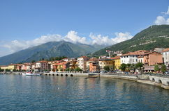 Gravedonna town at the Italian lake Como Stock Photography