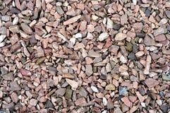 Gravel камни мрамор и гранит в идеале солнца для предпосылки Стоковые Фотографии RF