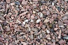 Gravel камни мрамор и гранит в идеале солнца для предпосылки Стоковое Фото