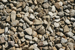 Gravel. Close up of gravel rocks stock image