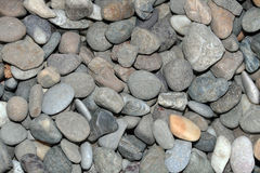 Gravel. Closeup shot of gravel big pile of stone on the shore of the river Danube, like nice background Stock Images