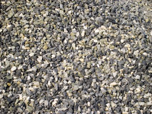 Gravel. Coarse gray gravel for backgrounds Royalty Free Stock Photography