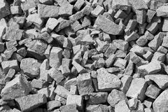 Gravel. Useful background black and white Gravel Texture Royalty Free Stock Images