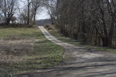 Gravel Access road Stock Image