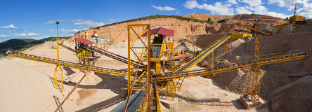 Free Gravel Aggregate Extraction Stock Photography - 43033892