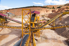 Gravel aggregate extraction Stock Photo