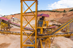 Gravel aggregate extraction Stock Photography
