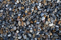 Gravel Background Backdrop. Background of Diverse Rough Gravel Royalty Free Stock Images