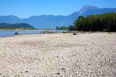 Gravel Bar Royalty Free Stock Images