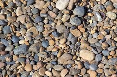 Gravel from the beach after Punta Loma near Puerto Madryn, a city in Chubut Province, Patagonia, Argentina Royalty Free Stock Photography