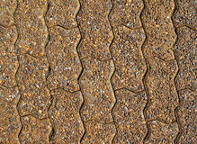 Gravel block path Royalty Free Stock Image