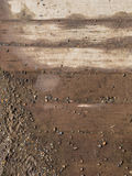 Gravel and boards Royalty Free Stock Photo