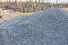 Gravel for construction industry Royalty Free Stock Photography