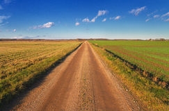 Gravel country road. Stock Photography