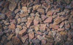 Gravel. Crushed granite. Building material Stock Images