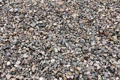 Gravel, crushed stone. Texture of rubble Construction material royalty free stock photography