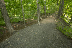 Gravel dike that held water to power an historic mill in Manchester, Connecticut. Stock Image