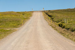 Gravel empty route number 85 - Iceland. Royalty Free Stock Photography