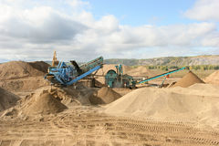 Gravel extraction Stock Images