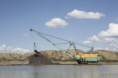 Gravel extraction Stock Photos