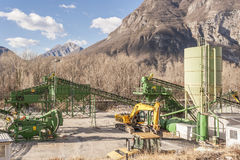 Gravel extraction plant. Royalty Free Stock Photos