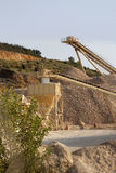 Gravel Extraction Plant. Treadmills for the sand Stock Photo