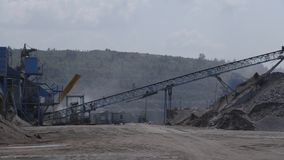 Gravel extraction in Russian quarry stock video