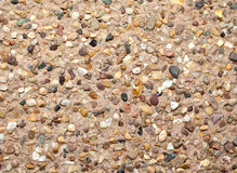 Gravel facade texture Royalty Free Stock Photos