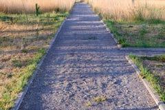 Gravel garden walkway Stock Photo