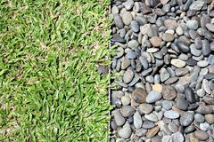 Gravel and grass. Stock Image