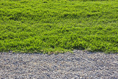 Gravel and grass. Royalty Free Stock Photography